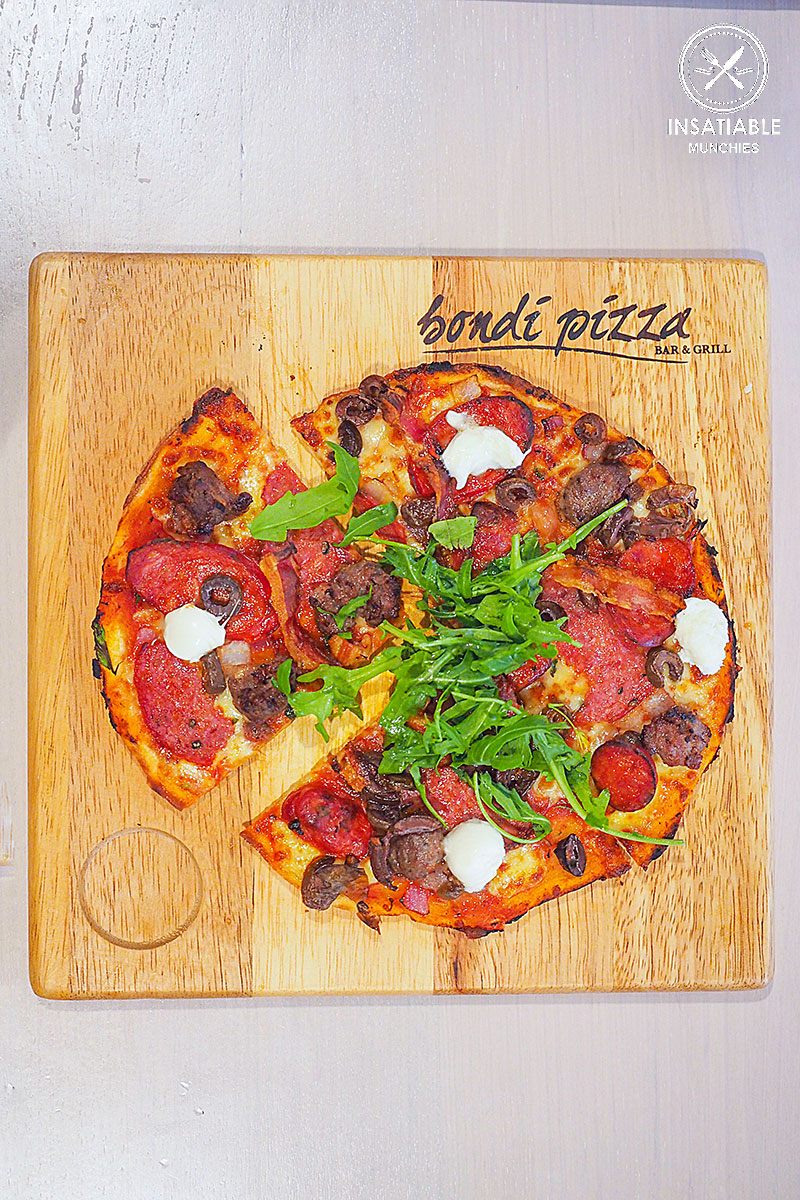 Sicilian pizza, $13.95: Bondi Pizza, Macquarie. Sydney Food Blog Review