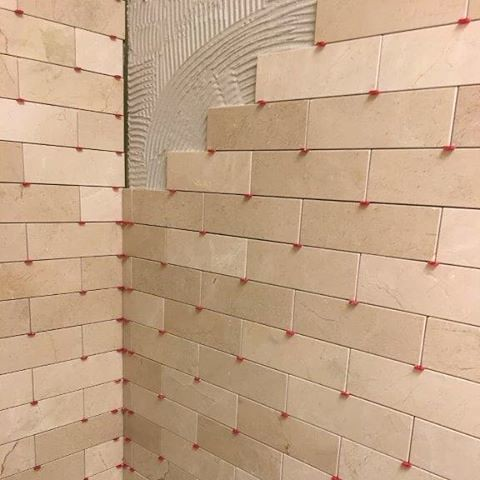 Pretty 12 Inch Ceramic Tile Tiny 12X24 Tile Floor Regular 16X16 Ceiling Tiles 18 X 18 Ceramic Floor Tile Young 18X18 Ceramic Tile Orange1X1 Floor Tile Started Installing The 3x9 Crema Marfil Subway Tile On The New ..