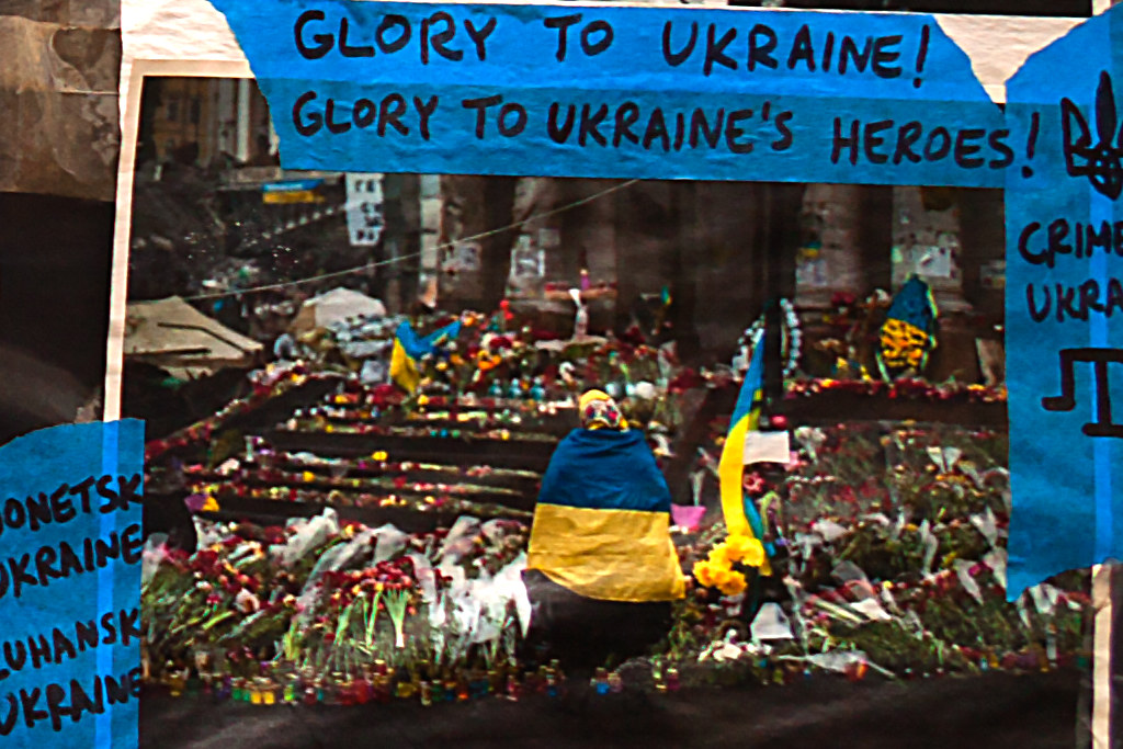 WEAPONS FOR UKRAINE NOW--St. Mark's Place, New York (detail 4)