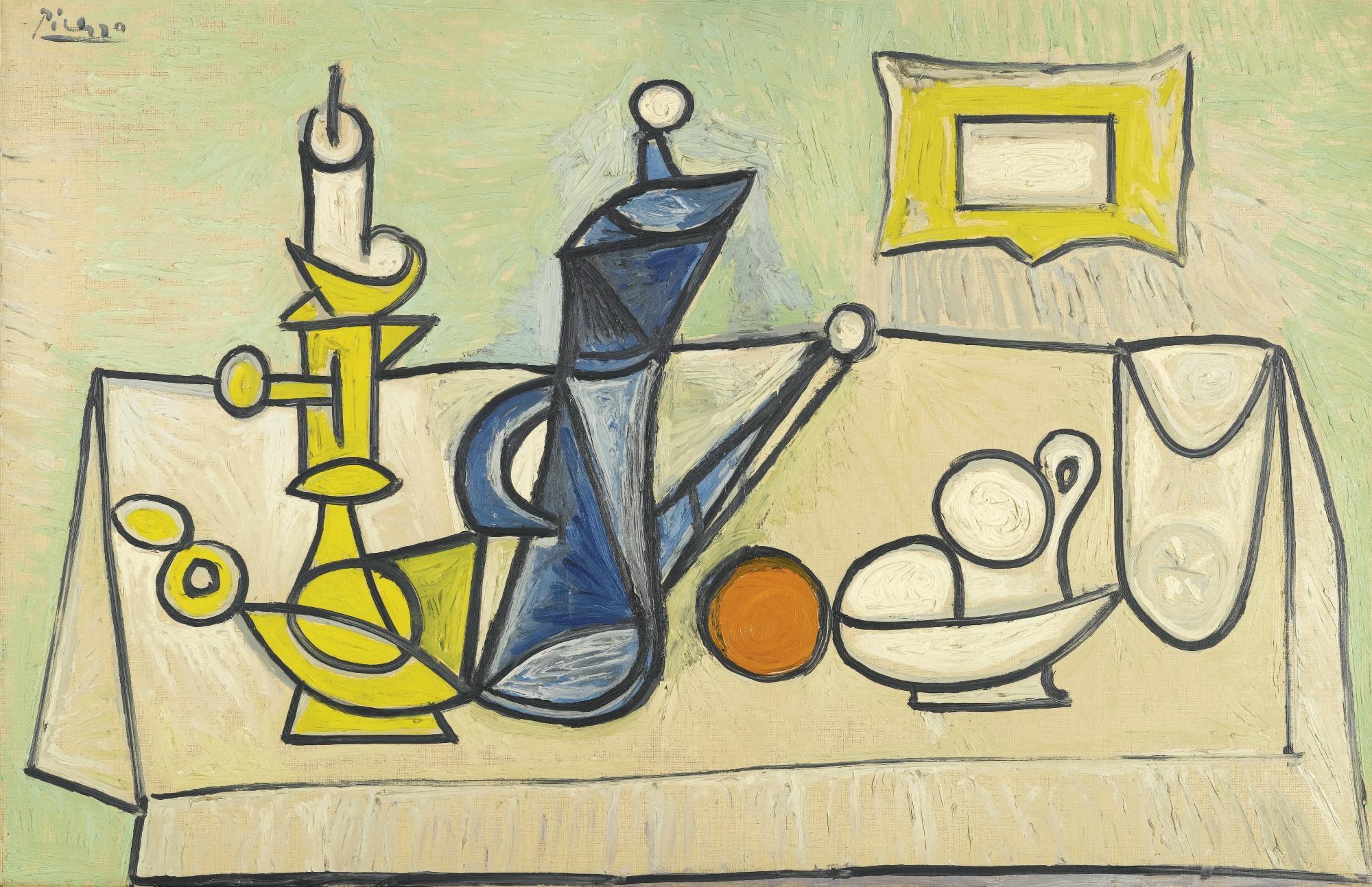 Pablo Picasso - Still Life (Nature morte) [1944] | Gandalf\'s Gallery