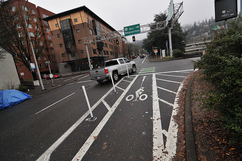 New protected bike lane at SW 13th and Clay-4.jpg