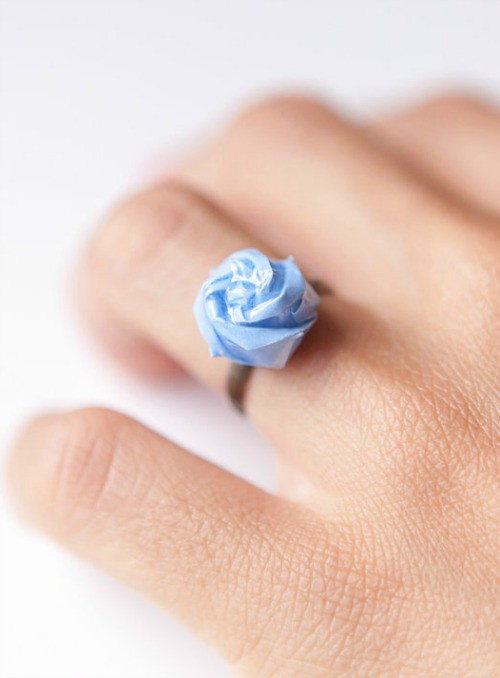 Origami Rose Ring from Little Ray of Sunflower