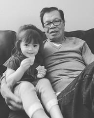 Samantha and Grampa Kong. #Khmer #cambodianfamily #familytime