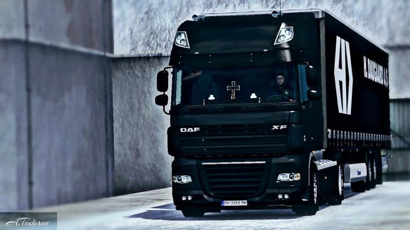 DAF XF 105 BLACK ETS2