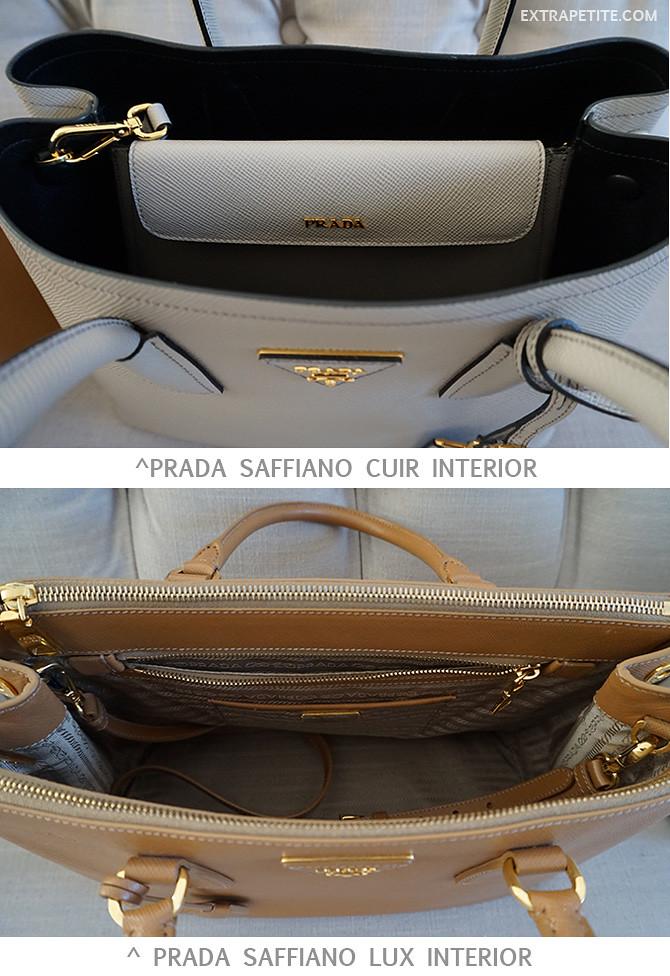 prada saffiano lux cuir interior lining