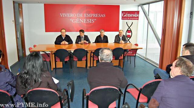 Presentación de los servicios de SECOT Salamanca en el Vivero de Empresas Génesis