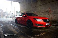 Vauxhall Insignia Dragon Fire red wrap