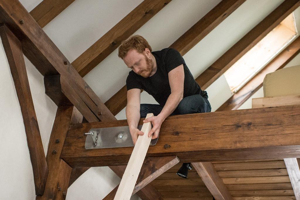 A Tiny House Loft Ladder