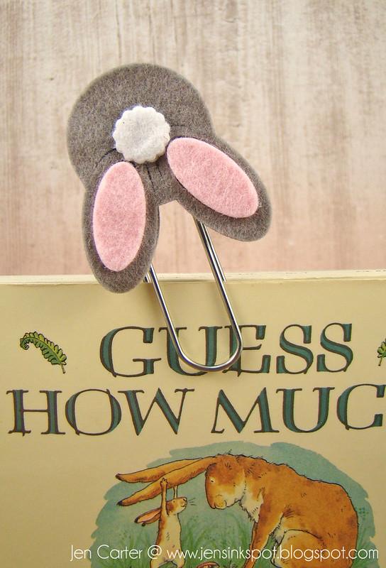 Jen Carter Bunny Butt Bookmark Closeup 1
