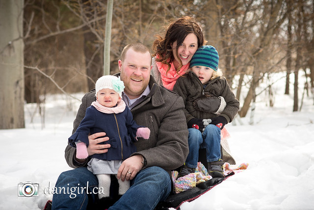 Family snow portraits