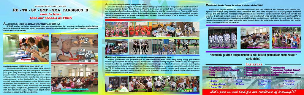 Brosur Dan Poster Psb Tahun Pelajaran 2016 2017 Sekolah Tarsisius 2
