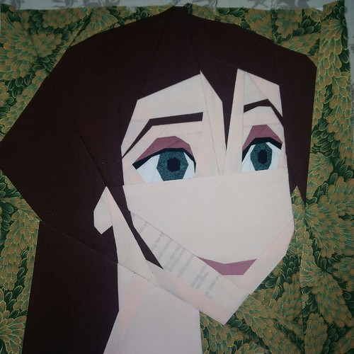 Jane from Tarzan. Paper pieced. #fandominstitches