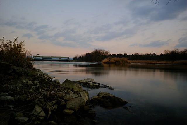 Die Aare zwischen dem Klingnauer Stausee und dem Zufluss in den Rhein