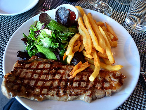 Steak Fries and Salad