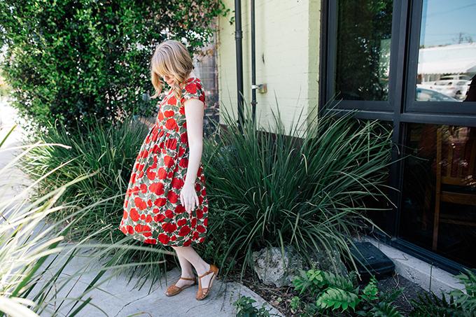 vintage poppy dress6