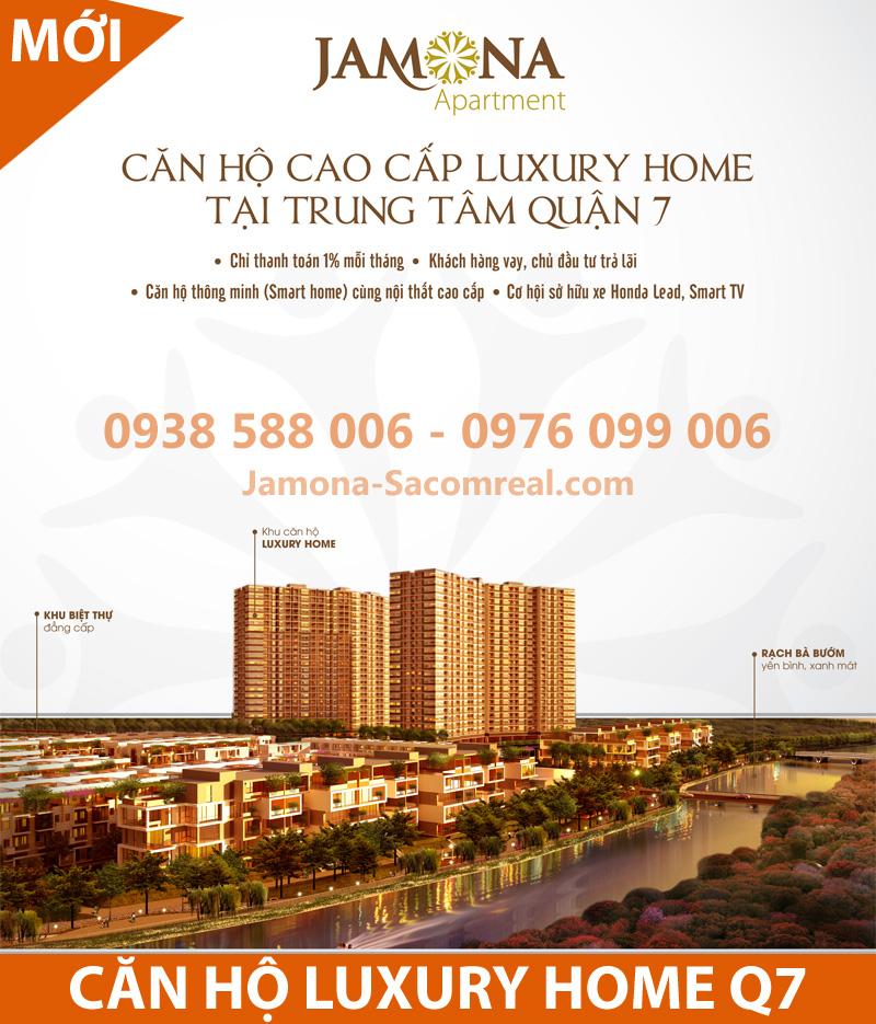 Sacomreal mở bán căn hộ Luxury Home dự án Jamona Apartment quận 7.