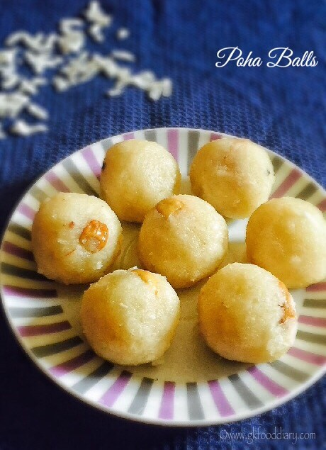 Poha Balls Recipe for Babies, Toddlers and Kids4
