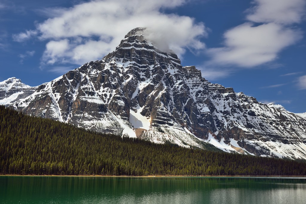 Mount Chephren and the Turquoise Waters of Waterfowl Lakes