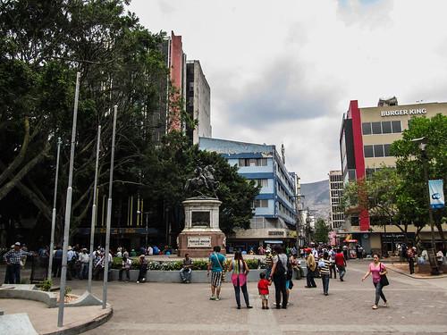 Tegucigalpa: la Plaza Morazan et la statue de Francisco Morazan