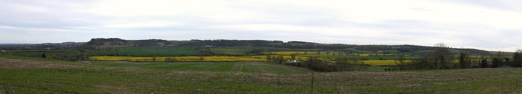 Rapefields showing Harlington Circular. Sundon Hills at back