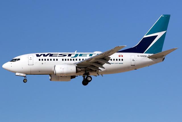 WestJet | Boeing 737-600 | C-GWSI | Las Vegas McCarran