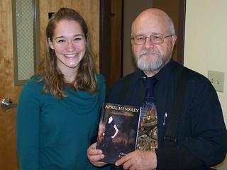 Mon, 01/09/2006 - 12:02 - Allison Ludlow with her GCC Public Speaking professor, John Molyneux