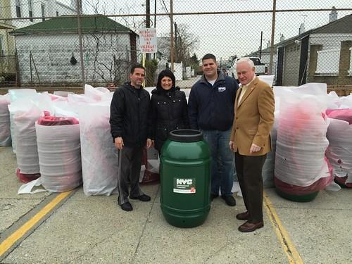 Rain Barrel Giveaway in Bay Ridge with Senator Golden