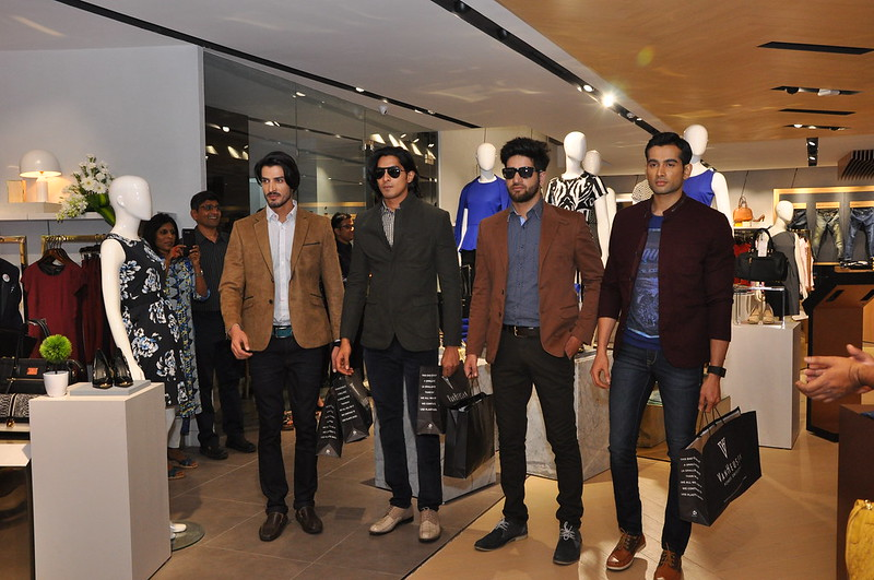 Models Showcasing the Seasons Collection at the Van Heusen Style Studio Fashionwalk