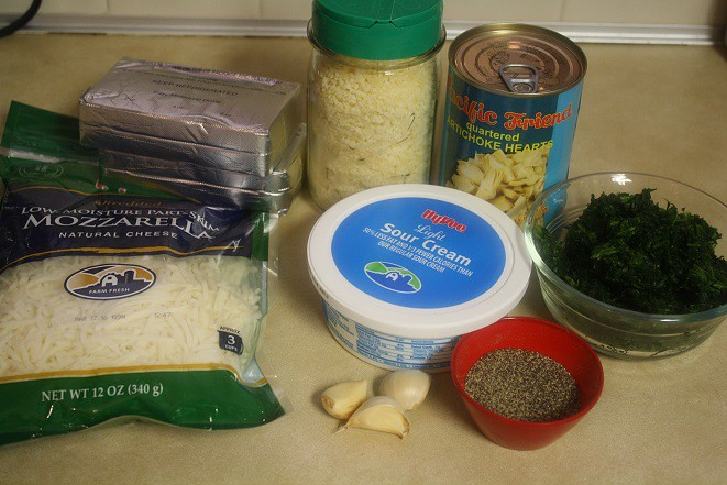 Lightened Up Spinach Artichoke Dip