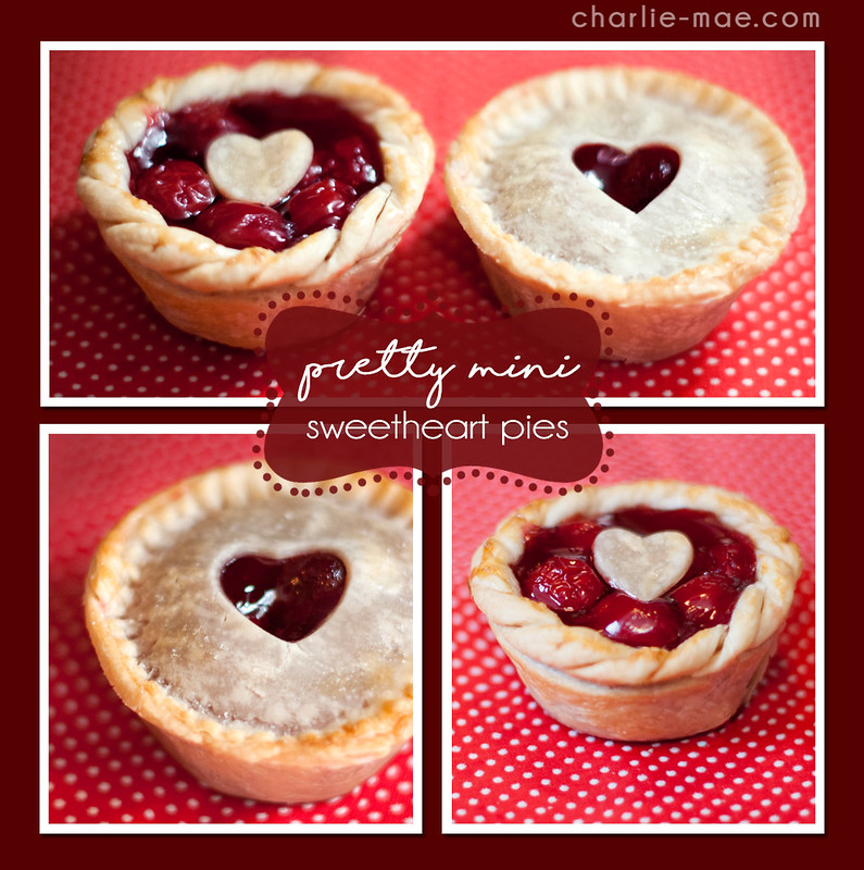 Pretty Mini Sweetheart Pies for Valentine's Day