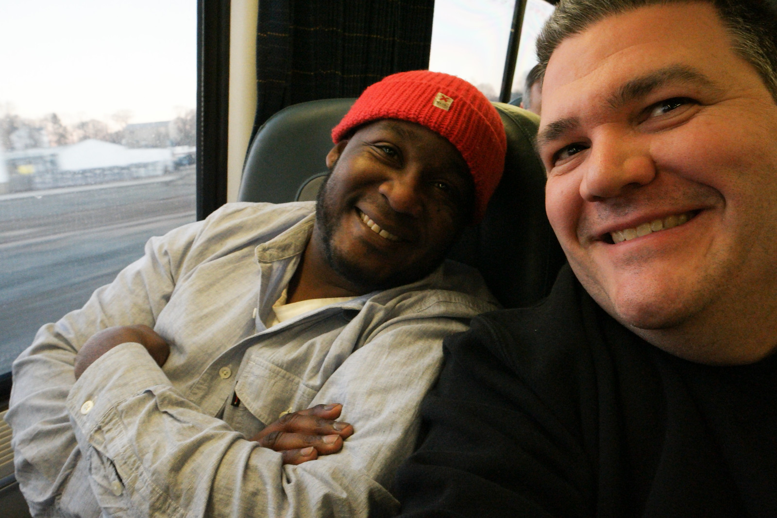 Clarence & C.C. On The Acela to NYC
