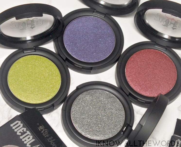 kat von d metal crush eyeshadow electric warrior, danzing, black no 1, raw power (3)