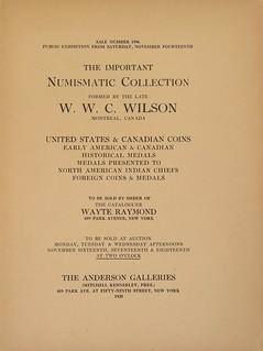 Wilson sale, Anderson, 1925