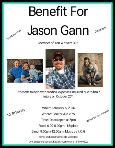 Benefit For Jason Gann 2-6-16
