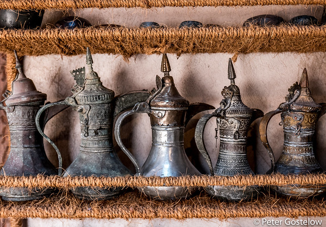 Traditional Omani coffee pots