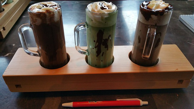 2016-Feb-7 Koko Monk - Hot Chocolate Festival 2016 - hot chocolate flight (l-r) Istanbul, Rashomon, Harem