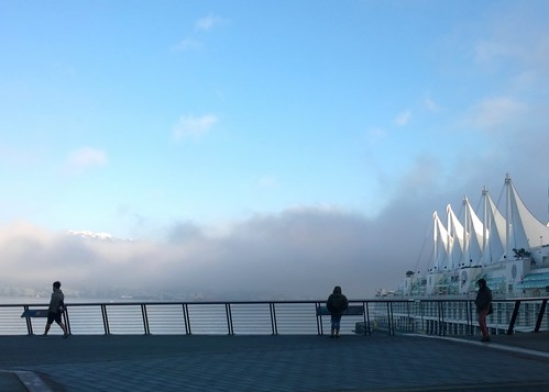 The fog lifts at Canada Place