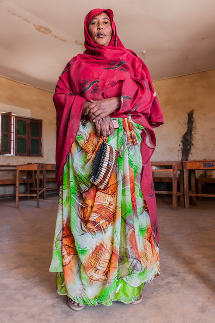 Tall lady in Somaliland