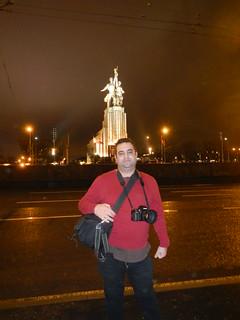 İşçi ve Çiftçi Kadın Heykeli Rostokino yakın görüntü. me russia moscow
