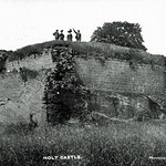 Holt Castle from the south, c.1900. Courtesy of Clwyd Family History Society