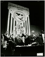 George Meany and Walter Reuther Celebrate at the First AFL-CIO Convention