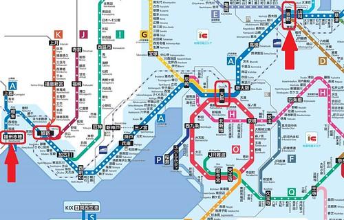 青春18兵庫、JR路線図(広域)