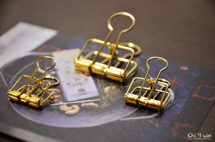 [日本。文具]透視金色長尾夾。閃耀著奢華光芒(京都河原町Angers)