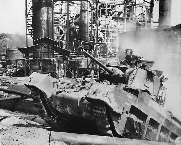 Australische Matilda IV bei den kämpfen in Borneo