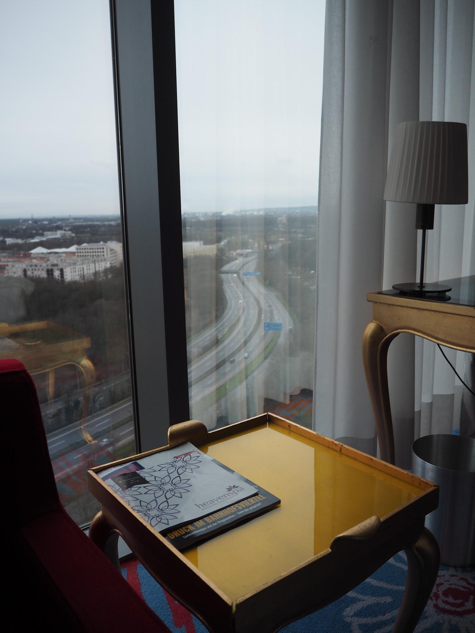 Aussicht aus der 17. Etage vom Radisso Blu