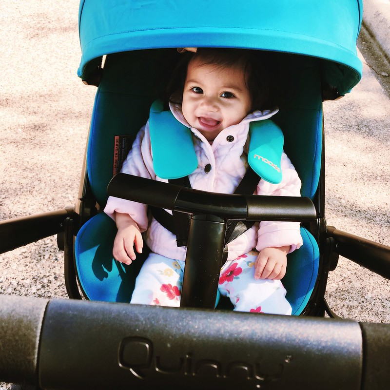 cute & little blog | petite fashion | quinny moodd stroller in green courage
