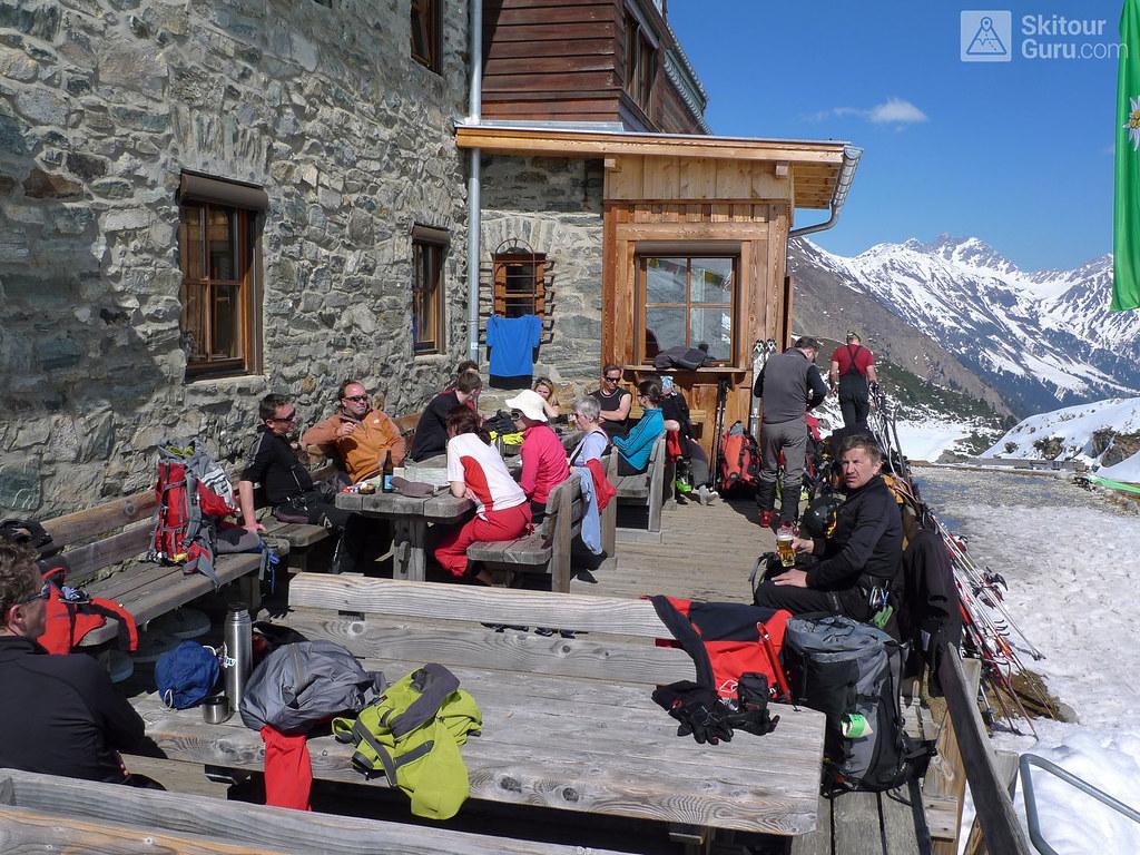 Franz Senn Hütte Stubaiské Alpy Österreich foto 06