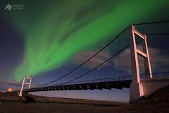 Aurora Skies Over The Jökulsárlón Bridge