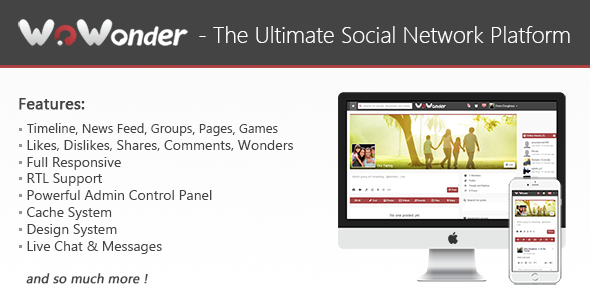 WoWonder v1.4.3 - The Ultimate PHP Social Network Platform