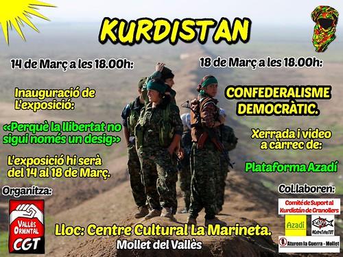 Exposició i xerrada suport Kurdistan a Mollet